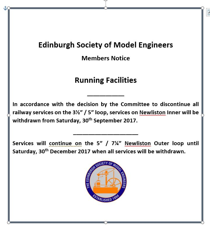 Newliston update | Edinburgh Society of Model Engineers
